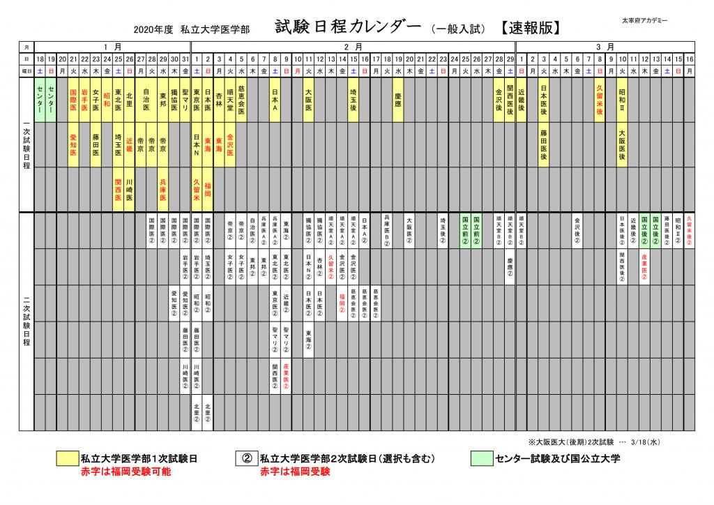 ☆①入試カレンダー-1